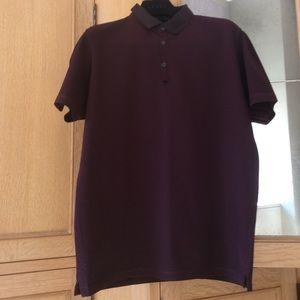 Lanvin Burgundy polo shirt